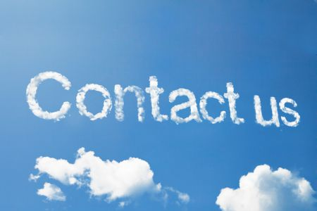 Contact Us in the clouds